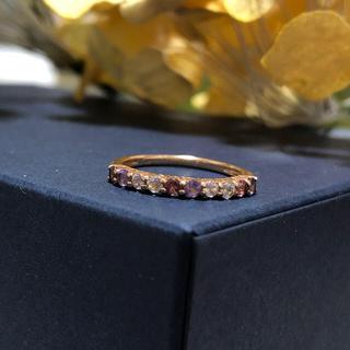 ★K10 天然石 ハーフエタニティ リング(リング(指輪))