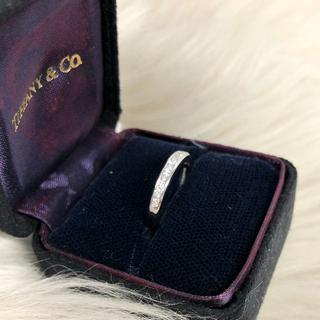 ティファニー(Tiffany & Co.)のティファニー ハーフエタニティダイヤリング PT950(リング(指輪))