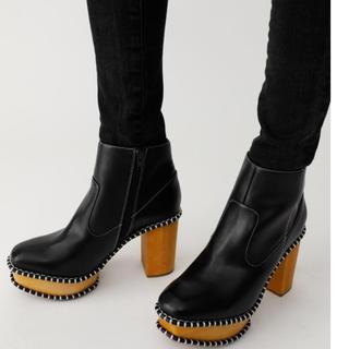 マウジー(moussy)のmoussyウッドソールブーツ(ブーツ)