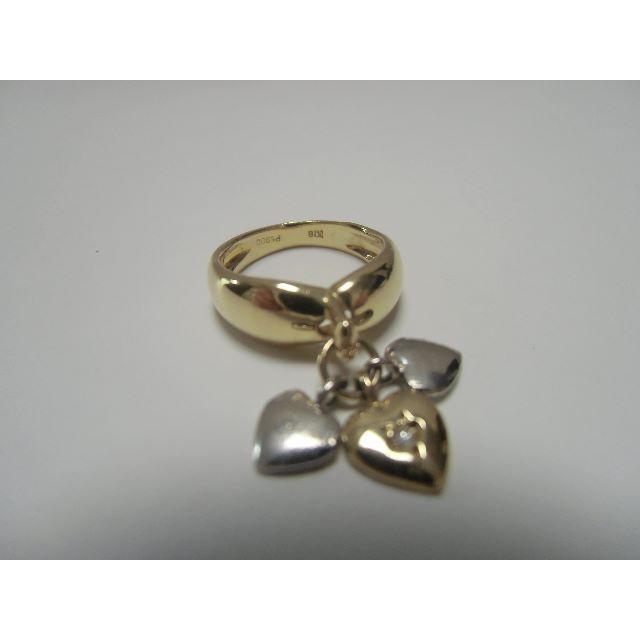 ♡K18Ptダイヤモンドピンキーリング♡トリプル♡♡♡ レディースのアクセサリー(リング(指輪))の商品写真
