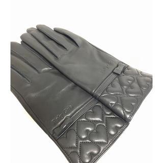 ピンキーガールズ(PinkyGirls)のラム革 ブラック 手袋 美品(手袋)