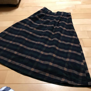 ナチュラルクチュール(natural couture)の超美品♡チェックスカート(ロングスカート)
