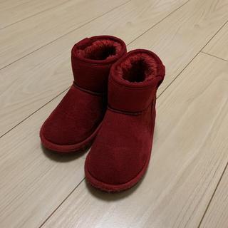 アンパサンド(ampersand)の可愛い!ampersand 赤いムートンブーツ 16cm(ブーツ)