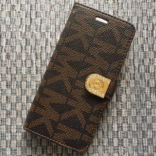 マイケルコース(Michael Kors)の箱なし iPhone7 8 ブラウン 手帳型ケース モノグラム マグネットベルト(iPhoneケース)