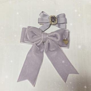 LIZ LISA リボンヘアクリップ パープル(紫)