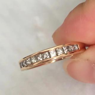 ハーフエタニティリングダイヤモンドK18(リング(指輪))