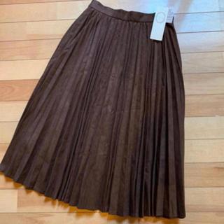 テチチ(Techichi)のneko様専用 テチチ プリーツスカート ブラウン M 流行色(ロングスカート)