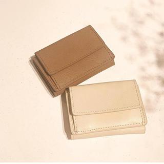 トゥデイフル(TODAYFUL)のTODAYFUL Leather Mini Wallet -Beige(財布)