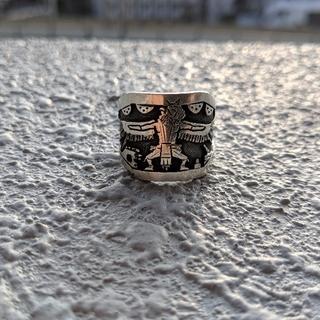 マライカ(MALAIKA)のホピ族 EdisonWadsworth リング19号silver925(リング(指輪))