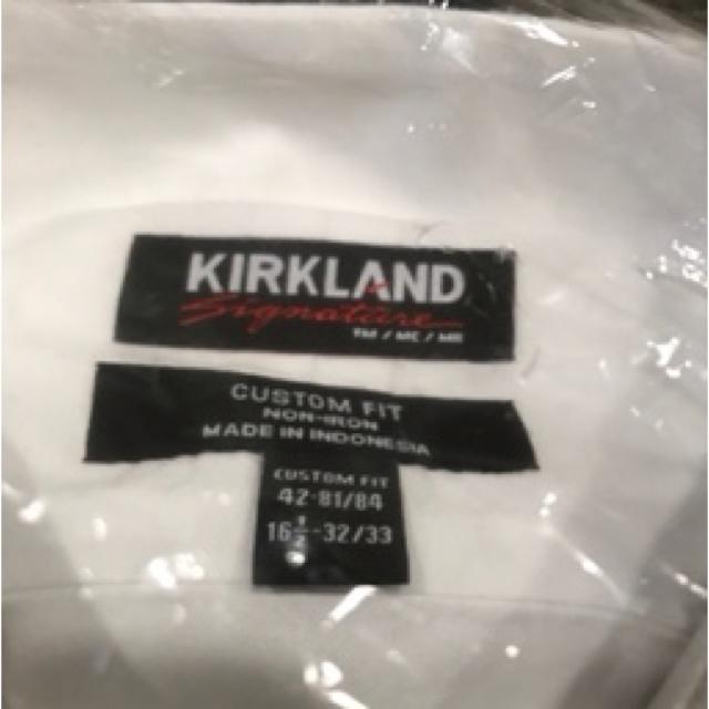 コストコ(コストコ)のコストコ ワイシャツ  ドレスシャツ 長袖   KIRKLAND メンズのトップス(シャツ)の商品写真