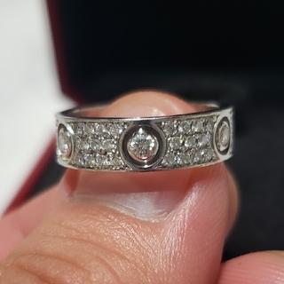 カルティエ(Cartier)の値下げ【Cartier】ラブリング フルダイヤ(リング(指輪))