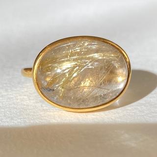 ゴールデンルチル k9カボションリング 検索 マリーエレーヌ ジェムパレス(リング(指輪))
