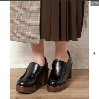 イング(INGNI)の新品です INGNI ウッドソールローファー(ローファー/革靴)
