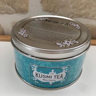 新品 未開封 クスミティー ブルー 大容量缶 125g(茶)