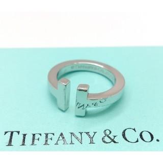 ティファニー(Tiffany & Co.)のティファニー K18WG Tスクエア リング  指輪 約8号 新品仕上済(リング(指輪))
