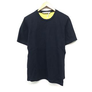マルニ(Marni)のMARNI マルニ メンズ Tシャツ 紺 半袖 イタリア製 シンプル おしゃれ(Tシャツ/カットソー(半袖/袖なし))