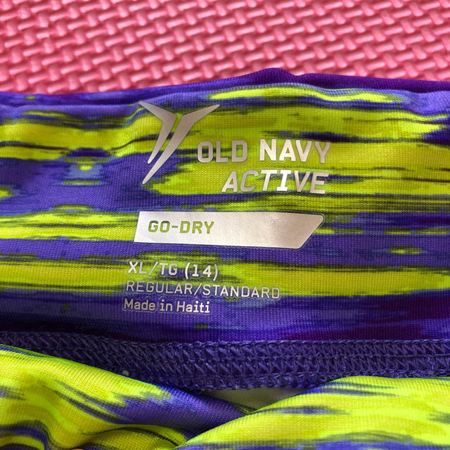 Old Navy(オールドネイビー)のスポーツウェア レギンス  ヨガウェア 速乾   XL スポーツ/アウトドアのトレーニング/エクササイズ(ヨガ)の商品写真