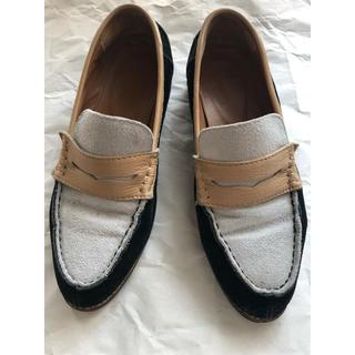 ローファー ライトブルー×ブラック(ローファー/革靴)