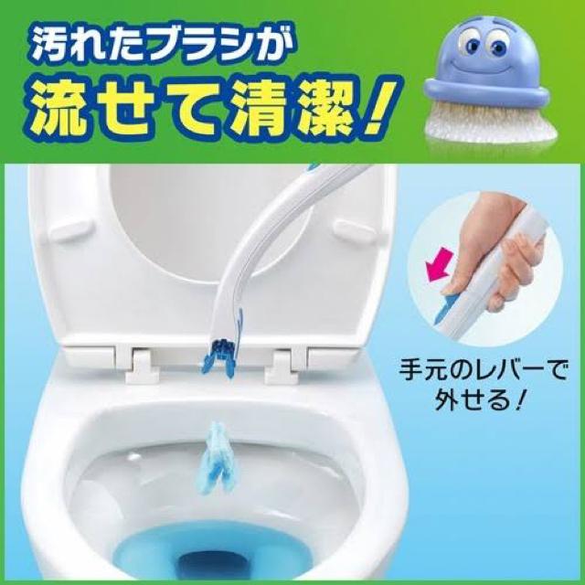 Johnson's(ジョンソン)のスクラビングバブル 流せるトイレブラシと、トイレ洗剤のセット キッズ/ベビー/マタニティのおむつ/トイレ用品(その他)の商品写真