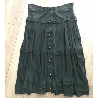 サンローラン(Saint Laurent)のイヴサンローラン Yves Saint Laurent スカート ブラック(ひざ丈スカート)
