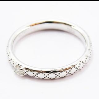グッチ(Gucci)のグッチ リング ディアマンティッシマ ダイヤ 1P K18WG 750 6号(リング(指輪))