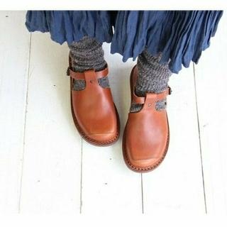 トリッペン(trippen)のtrippen トリッペン★walker cuoio Tストラップシューズ 38(ローファー/革靴)