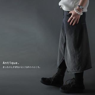 アンティカ(antiqua)のアンティカ  デザインタイトスカート(ひざ丈スカート)