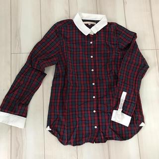 メルローズクレール(MELROSE claire)のメルローズクレール  チェックシャツ  L(シャツ/ブラウス(長袖/七分))