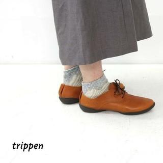 トリッペン(trippen)のtrippen トリッペン★pot cuoio レースアップレザーシューズ 38(ローファー/革靴)