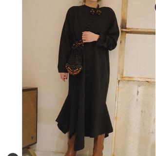 エンフォルド(ENFOLD)のLARA アシンメトリーヘムニットドレス 36(ロングワンピース/マキシワンピース)
