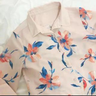 エイミーイストワール(eimy istoire)の新品 eimy istoire drawing flower パイピングシャツ(シャツ/ブラウス(長袖/七分))