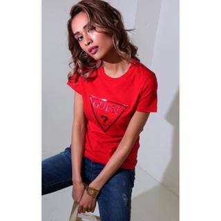 ゲス(GUESS)のGUESS メタリック logo Tシャツ(Tシャツ(半袖/袖なし))