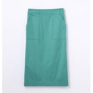 デプレ(DES PRES)の【美品】DESPRES コットンレーヨンストレッチタイトスカート(ひざ丈スカート)