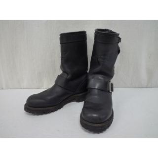 レッドウィング(REDWING)のREDWIN レッドウイング エンジニアブーツ 970 ブラック 24.5cm (ブーツ)