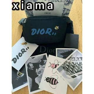 ディオール(Dior)のディオール カウズ DIOR KAWS ボディバッグ 黒青 ウエストポーチ(ウエストポーチ)