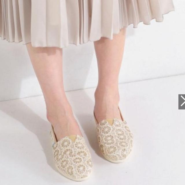TOMS(トムズ)の未使用 タグ付き!TOMS グリッタースリッポン  レディースの靴/シューズ(スリッポン/モカシン)の商品写真