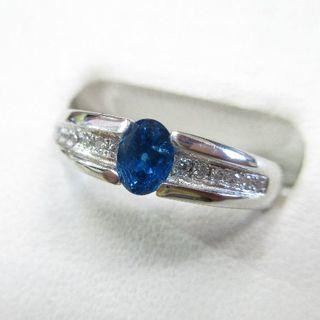 未使用品 アウイナイト0.34ct 天然ダイヤモンド0.06ct プラチナ製指輪(リング(指輪))
