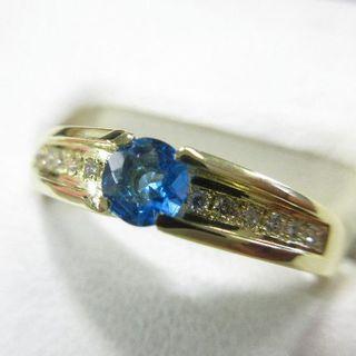 未使用品 アウイナイト0.16ct 天然ダイヤモンド0.06ct K18製指輪(リング(指輪))