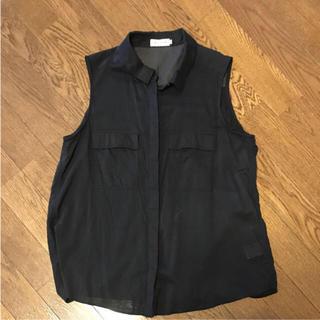 レプシィム(LEPSIM)のレプシム ノースリーブシャツ 黒 ブラック(シャツ/ブラウス(半袖/袖なし))