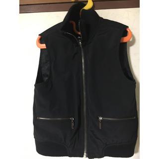 レノマ(RENOMA)の❣️renoma Parisレノマ男の子女の子兼用薄手中綿ベスト ブラック110(ジャケット/上着)