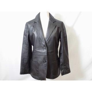 ムジルシリョウヒン(MUJI (無印良品))の2703 無印良品 ラムレザージャケット S 黒 羊革(テーラードジャケット)