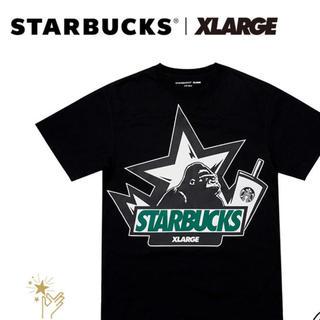 エクストララージ(XLARGE)のX-LARGE STARBUCKS 中国限定コラボTシャツ ブラック(Tシャツ(半袖/袖なし))