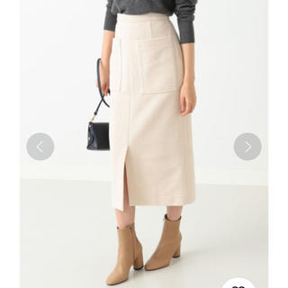 デミルクスビームス(Demi-Luxe BEAMS)のDemi-Luxe BEAMS / コーデュロイ スカート オフホワイト(ひざ丈スカート)