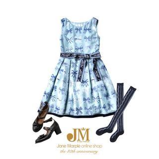 ジェーンマープル(JaneMarple)のJane Marple The 30th Ribbonオパールドレス (ひざ丈ワンピース)