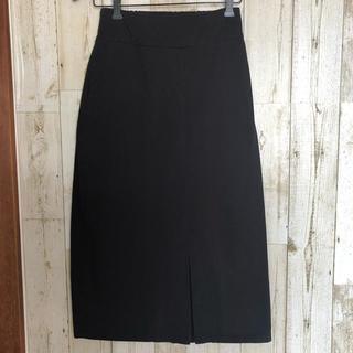 メルロー(merlot)のmerlot♡ブラックスカート♡スリットスカート♡M(ひざ丈スカート)
