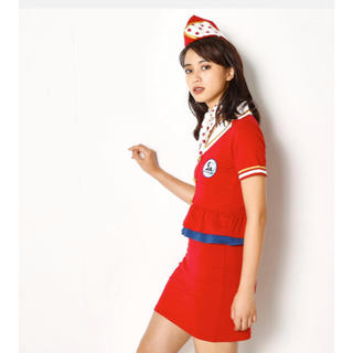 SLY - SLY  AIRLINES COSTUME SET  ✈️(赤)