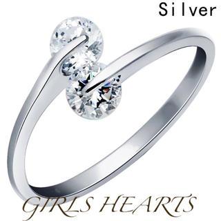 送料無料クロムシルバースーパーCZダイヤデザイナーズジュエリーリング指輪値下げ(リング(指輪))