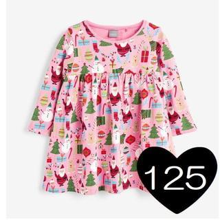 ネクスト(NEXT)の*125*ピンク クリスマス ワンピース2(ワンピース)