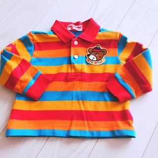 ミキハウス(mikihouse)の美品 ミキハウス レトロ くま ポロシャツ 80(シャツ/カットソー)