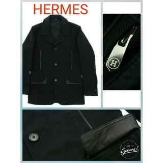 エルメス(Hermes)の高級HERMESメンズ黒エルメスレザー★ジャケット牛革(レザージャケット)